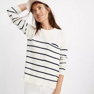 Madewell Thompson pocket pullover stripe knit sweater Size XS